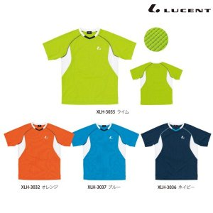 LUCENT-ルーセント 男女兼用/ユニセックス 襟なし ゲームシャツ/Tシャツ テニス/ソフトテニスウェア・バドミントンウェア|sportskym