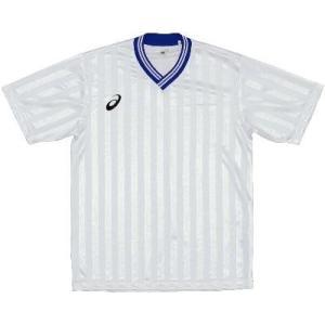 asics-アシックス ゲームシャツHS ホワイト×ブルー サッカー、フットサル|sportskym
