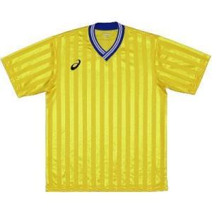 asics-アシックス ゲームシャツHS イエロー サッカー、フットサル/ウェア|sportskym