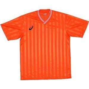 asics-アシックス ゲームシャツHS オレンジ サッカー、フットサル/ウェア|sportskym