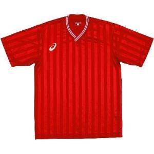 asics-アシックス ゲームシャツHS レッド サッカー、フットサル/ウェア|sportskym