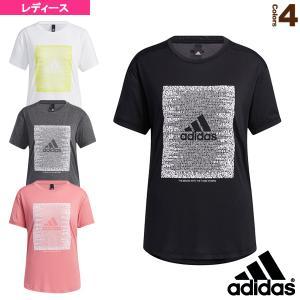 アディダス オールスポーツウェア(レディース)  マストハブ ワード グラフィックTシャツ/レディース(JKO21)|sportsplaza