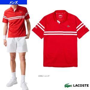 ラコステ テニス・バドミントンウェア(メンズ/ユニ)  NOVAK DJOKOVIC/ダブルストライプポロシャツ/メンズ(DH9685L)|sportsplaza
