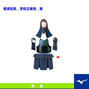 ミズノ 剣道アクセサリ・小物 剣道防具/学校正課用/垂/M(27BA523)|sportsplaza