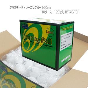 [照和商事 卓球ボール]プラスチックトレーニングボール40mm/10ダース・120球入(PT40-10)|sportsplaza