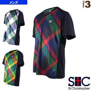 セントクリストファー テニス・バドミントンウェア(メンズ/ユニ)  タータンVネックゲームTシャツ/メンズ(STC-AIM5173)|sportsplaza