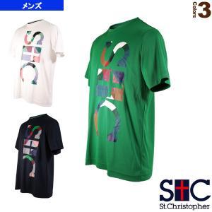 セントクリストファー テニス・バドミントンウェア(メンズ/ユニ)  バーチカル STC プラクティスTシャツ/メンズ(STC-AIM5187)|sportsplaza