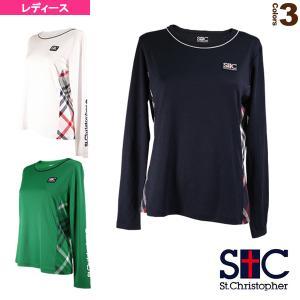 セントクリストファー テニス・バドミントンウェア(レディース)  チェックロングTシャツ/レディース(STC-AIW6177)|sportsplaza