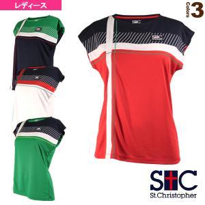 セントクリストファー テニス・バドミントンウェア(レディース)  クロスラインゲームTシャツ/レディース(STC-AIW6181)|sportsplaza