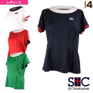 セントクリストファー テニス・バドミントンウェア(レディース)  コンストリクションゲームTシャツ/レディース(STC-AIW6187)|sportsplaza