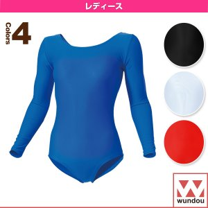 wundou(ウンドウ) 体操ウェア(レディース)  女子体操レオタード長袖/レディース(P520)|sportsplaza
