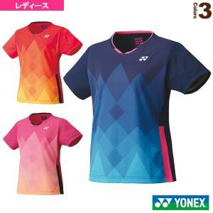 ヨネックス テニス・バドミントンウェア(レディース)  ゲームシャツ/スリムタイプ/レディース(20621)|sportsplaza