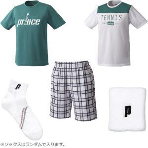 プリンス テニスウェア&アクセサリー 5点セット WUF1949 夏の福袋 2019  prince メンズ|spotaka
