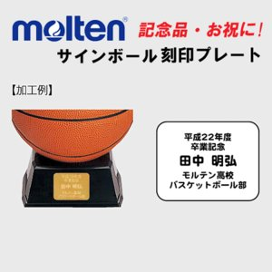 モルテン molten サインボール 刻印プレート ネームオーダーシート 単品購入不可