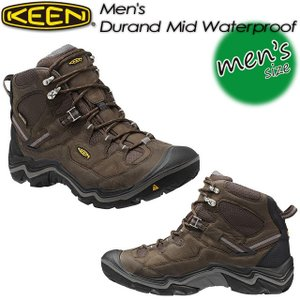 キーン KEEN 1011550 Men's Durand Mid WP デュランド ミッド WP  Cascade Brown/Gargoyle|spray
