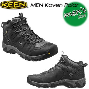 KEEN キーン MEN Koven Polar コーベン ポーラー 1013306 Black/Neutral Gray|spray