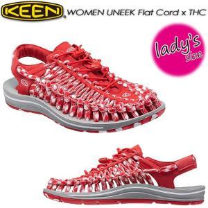 キーン KEEN 1014893 WOMEN UNEEK Flat Cord x THC ユニーク フラットコード|spray