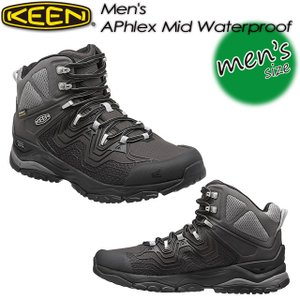 KEEN キーン Men's APhlex Mid WP エーフレックス ミッド WP 1015340 Black/Black|spray