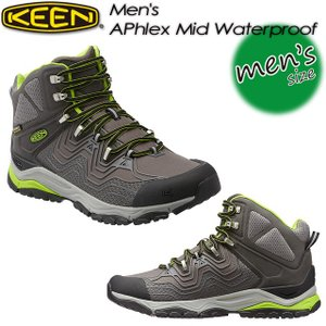 KEEN キーン Men's APhlex Mid WP エーフレックス ミッド WP 1015341 Gargoyle/Macaw|spray