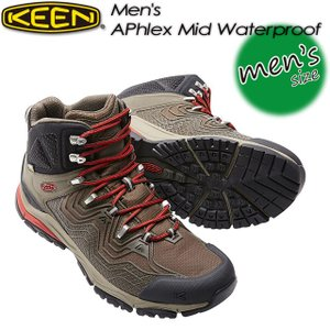 KEEN キーン Men's APhlex Mid WP エーフレックス ミッド WP 1016756 Black Olive/Bossa Nova|spray