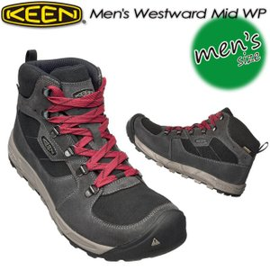 キーン KEEN 1016998 Men's Westward Mid WP ウェストワード ミッド WP Gargoyle/Black|spray