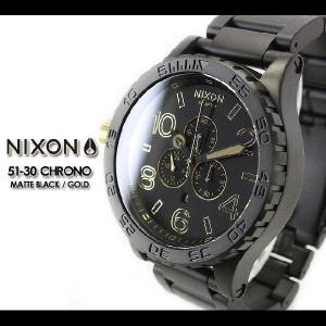 ニクソン NIXON フィフティーワンサーティー MATTE BLACK GOLD|spray