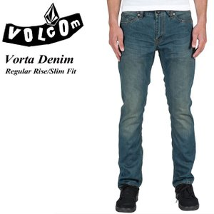 ボルコム VOLCOM A1931501 Vorta Denim FOG Regular Rise Slim Fit|spray