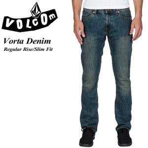 VOLCOM ボルコム Vorta Denim MLO Regular Rise Slim Fit A1931501|spray