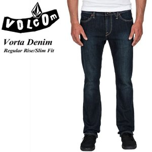 VOLCOM ボルコム Vorta Denim UDB Regular Rise Slim Fit A1931501|spray