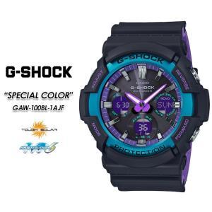 Gショック G-SHOCK GAW-100BL-1AJF 電波 ソーラー 腕時計|spray