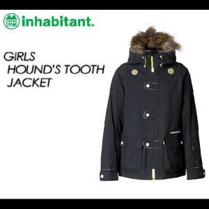 inhabitant GIRLS HOUND'S TOOTH JACKET BLACK|spray
