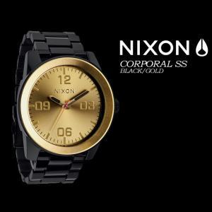 NIXON ニクソン  THE CORPORAL SS  BLACK/GOLD メンズ 男性用|spray