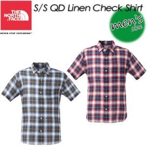 ノースフェイス THE NORTH FACE NR21424 S/S QD Linen Check Shirt ショートスリーブ QDリネンチェックシャツ|spray