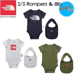 THE NORTH FACE ノースフェイス  S/S Rompers&Bib ショートスリーブロンパース&ビブ NTB11708|spray