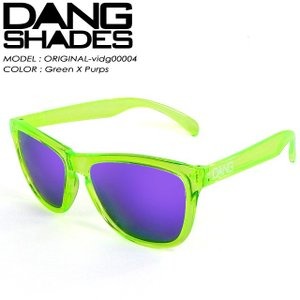 ダン シェイディーズ  DANG SHADES vidg00004 ORIGINAL オリジナル Black Clear Tortoise x CleGreen X Purps|spray