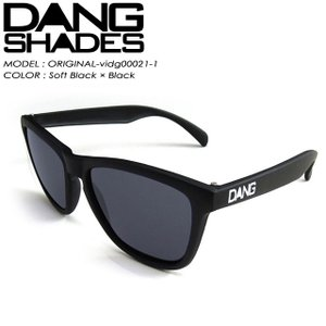 DANG SHADES ダン シェイディーズ ORIGINAL オリジナル Soft Black × Black vidg00021-1|spray