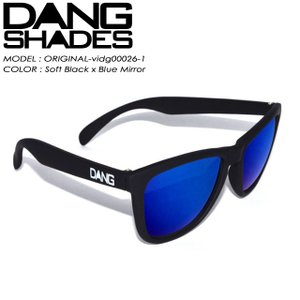 DANG SHADES ダン シェイディーズ ORIGINAL オリジナル Soft Black x Blue Mirror vidg00026-1|spray