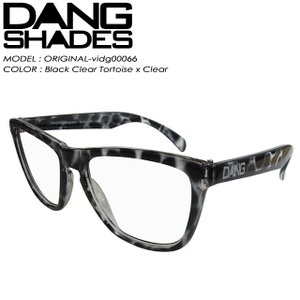 DANG SHADES ダン シェイディーズ ORIGINAL オリジナル Black Clear Tortoise x Clear vidg00066|spray