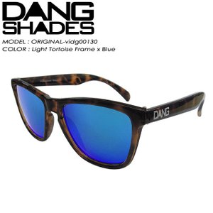 DANG SHADES ダン シェイディーズ ORIGINAL オリジナル Light Tortoise Frame x Blue vidg00130|spray