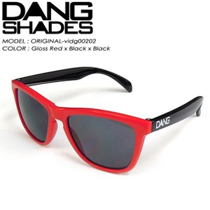 ダン シェイディーズ  DANG SHADES vidg00202 ORIGINAL オリジナル Gloss Red x Black x Black|spray