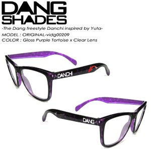 ダン シェイディーズ  DANG SHADES vidg00209 ORIGINAL オリジナル The Dang freestyle Danchi inspired by Yuta Gloss Purple Tortoise x Clear Lens|spray