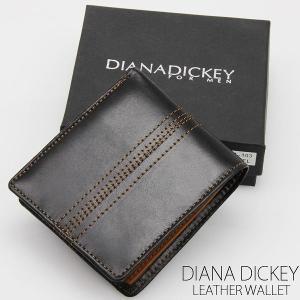 DIANADICKY 本革使用 二つ折りメンズ財布 ダイアナディッキー DM-103-CAM キャメル レザーステッチ折財布 springstate