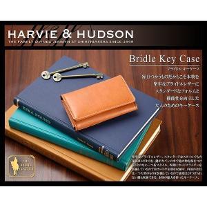 HARVIE&HUDSON 本革使用 三つ折りキーケースメンズ定期入れ ハービーアンドハドソン HA-1007 springstate