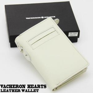 VACHERON HEARTS 本革使用 縦型二つ折り財布 バセロンハーツ ヴァセロンハーツ カードポケット Lファスナー VH-3000-WH ホワイト springstate