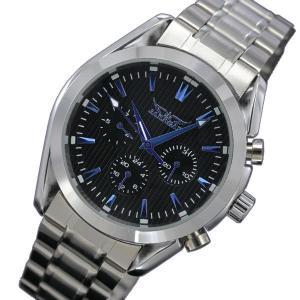 自動巻き腕時計 メンズ腕時計 マルチカレンダー デイデイト 日付表示 メタルベルト 男性用 JARAGAR ジャラガー BCG42|springstate