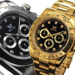 自動巻き腕時計 メンズ腕時計 防水 マルチカレンダー デイデイト 日付表示 メタルベルト 男性用 Bel Air collection ベルエアー BCG62|springstate
