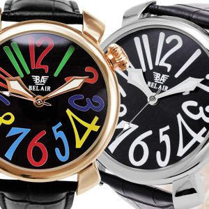自動巻き腕時計 メンズ腕時計 ビッグケース レザーベルト 男性用 Bel Air collection ベルエアー BCG84|springstate