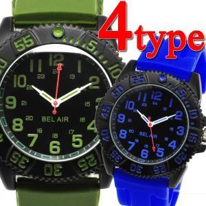 腕時計 メンズ腕時計 回転ベゼル ラバーベルト ミリタリーデザイン クォーツ 男性用 OSD29|springstate