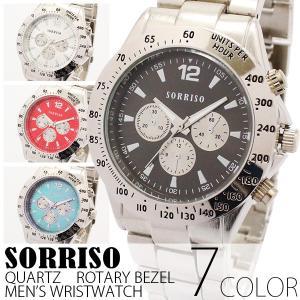 腕時計 メンズ腕時計 メタルベルト フェイククロノグラフ フェイクダイアル クォーツ 男性用 JH12|springstate