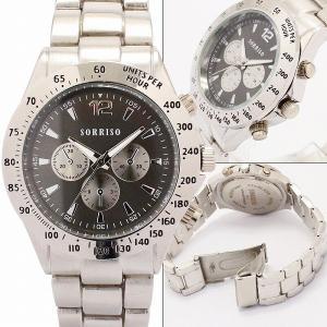腕時計 メンズ腕時計 メタルベルト フェイククロノグラフ フェイクダイアル クォーツ 男性用 JH12|springstate|02